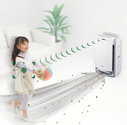 Воздухоочиститель и ребенок